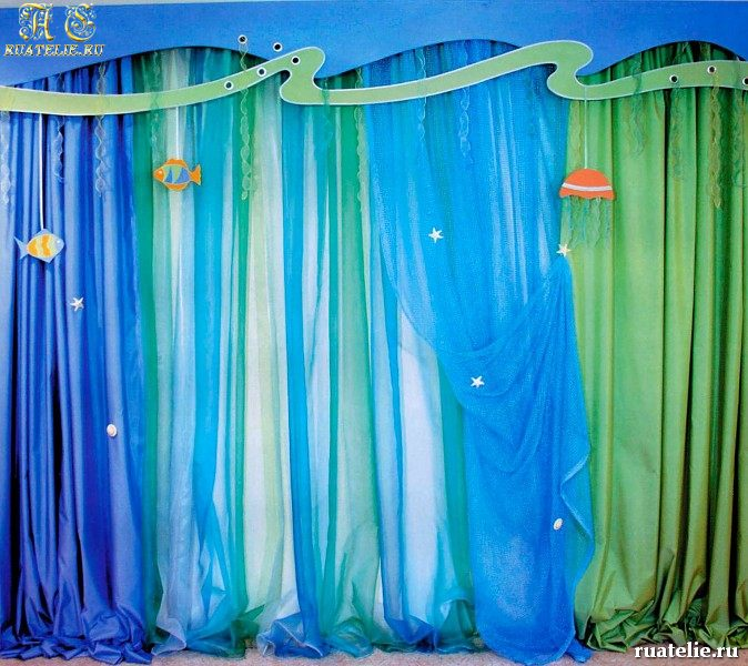 Banded curtains