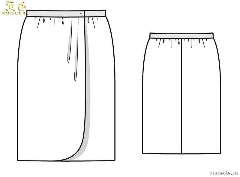 Как сшить модную юбку с запахом своими руками 3