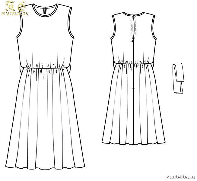 Сшить платье на резинке на талии легко и просто