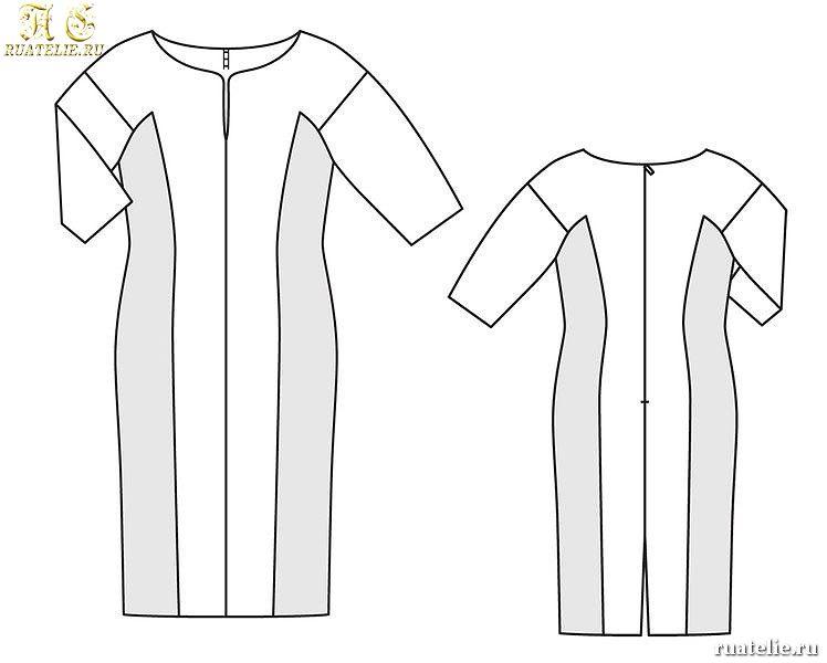 Простые платья для полных своими руками 72